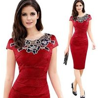 GC207 Ladies dress latest office uniform design OL Clothes Knee-length Pencil Dress