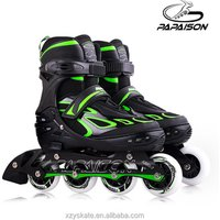 2.3mm 100%  true Aluminium frame Flashing Wheel  Inline Roller Skates