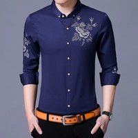NEW Mens slim Long Sleeves Fashion dress shirt men casual shirts