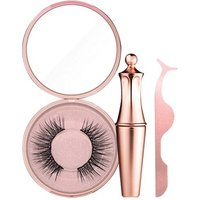 Hot Eyes Makeup Set 3 In 1 Magnetic False Eyelash+Liquid Eyeliner+Eyelash Tweezer