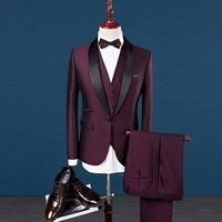 Wedding And Business Suit 3 Piece Tuxedo Slim Fit Track Suit Men Custom