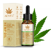 ALIVER Organic Hemp Seed Pure Essential Oil for Aromatherapy Herbal Drops Reduce Stress Pain Relief Sleep Oil Skin Care 10ml