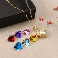 2019 newest gold plated locket heart pendants necklace Valentine Days Gifts