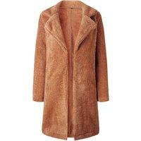 long style turn-down collar ladies outwear lamb sheep faux fur winter coat women