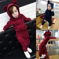 Autumn Kids Winter Clothes Boys Girls Solid Color Casual Child Tracksuit Korean Fashion Sport Suit Hoodies and Pant