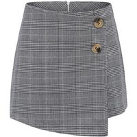 Womens High Waist Bodycon Mini Skirt School Girl Plaid Uniform Skirt