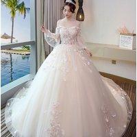 Summer collection princess backless lace decor V-neck skinny wedding dress