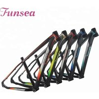 Funsea Original processing pipe materials painting/Decal alloy 6061# downhill mountain bike mtb frame bicycle frame