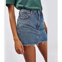 New A-Line jeans skirt ladies asymmetrical short mini denim skirt