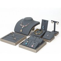 Earring Necklace Ring Rack Wood Showcase Jewelry Display, Packaging Cabinet Tray Set Jewelry Display Stand