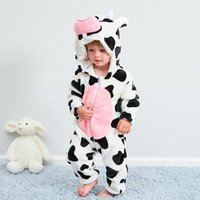 ZB02 Cute animal model autumn and winter warm flannel baby jumpsuit clothing newborn baby clothes