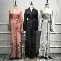 2019 Abaya For Women Kaftan Abaya Sequin Muslim Hijab Dress Robe Dubai Caftan Marocain Jilbab Turkish Islamic Clothing