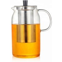 50oz 1.5L Large Glass Teapot  Cold Brew Iced Coffee Maker with Infuser