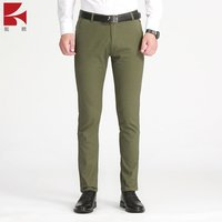 Mens Anti Wrinkle suit trousers business casual pants cotton chinos