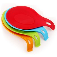 'Z304 Kitchen Spoon Rests Spoon Shape Cushion Non-stick Cooking Accessories  Food Grade Silicone  Spoon Rests