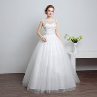 Korean Lace Up Ball Gown Quality Wedding Dresses 2017 Alibaba Customized Plus Size Bridal Dress