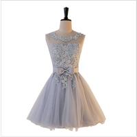 2019 New Grey Sisterdress Bridesmaid Dresses Short  Evening  Mini Dress