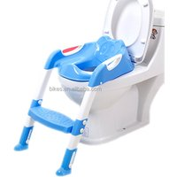 New Baby Plastic Toilet Seat Folding Potty Toilet Trainer Seat Chair Step with Adjustable Ladder infant Potty Childrens Toilet