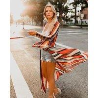 Women  Chiffon Long Kimono Sheer Loose Cardigan Lightweight Breathable Cover ups