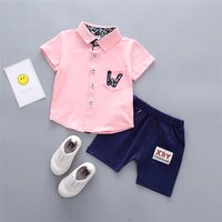 Children Clothing 2018 summer Boys Clothes Shirt + Jeans Pants 2pcs Outfit Kids Clothes Boys Suit Toddler Boys Clothing Sets
