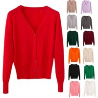 Fashion Ladies Cardigan Casual Sweet Crochet Knitted Tops Long Sleeve Thin Spring Autumn Sweater Cardigans