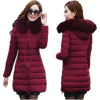 China Manufacturer Custom Oversize Hooded Ladies Jacket Winter Puffer Cotton Padding Down Jacket Women With Fur