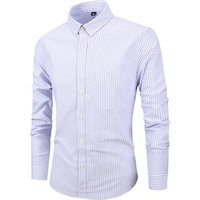 2019 Brand New Men Shirt Male Dress Shirts Striped Mens Casual Long Sleeve Business Formal Solid Color Shirt