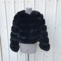 2019 Fashion Beautiful Wholesale Custom Fur Coat Colorful Women Winter Warm Natural Real Fox Fur Coat