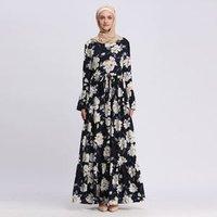 2019 ramadan collection 4 colors ruching edging design muslim cotton jalabiya women kaftan islamic casual abaya