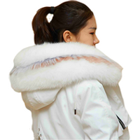 Winter Womens Fox Fur Coat Warm Hood Parka Ladies Long Trench Jacket Outwear fashion winter coats