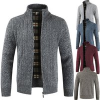 solid 5 color red coffee blue dark grey light grey standing collar long sleeves fit men plain blank cardigan sweater