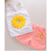 baby clothes children girl tank top and shorts set wholesale clothing cool summer clothes
