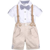 Summer style baby boy clothing sets newborn infant clothing 2pcs short sleeve shirt + suspenders shorts gentleman suits