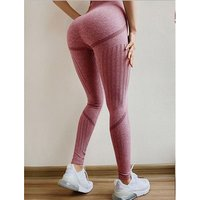 2019 New Women High Waist Seamless Leggings Ankle Yoga Pants Running Workout 4 Way Stretch Tights (Tummy Control+Turnup Hips)
