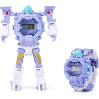 Transform Rescue Robots Toys for 3+ Year Old Boys Girls, Kids Multi Function Projection Digital Wristwatch