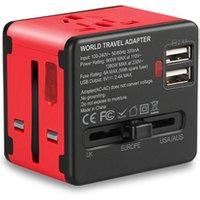Worldwide travel adapter power adaptor multiple plug socket travel USB charger