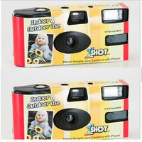 '35mm Film Camera Disposable With Flashlight Build In Battery With Fuji Color Film 200asa 36exp Customized Color Box Design