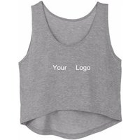 Custom Wholesale OEM Cotton Tank Tops Women Sporting Fitness Vest Blank Sleeveless Crop Top With Your Own Logo