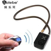 oem waterproof keyless bike motorcycle parking cable alarm 4 digital locks bicycle lock with remote control