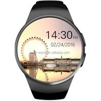 1.3 inch Full round IPS OGS touch screen KW18 smart watch bluetooth 4.0 watch mobile ce rohs android watch 2G GSM