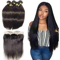 Mink brazilian human hair,raw cuticle aligned straight virgin hair extension in guangzhou brazilian hair bundles with frontal