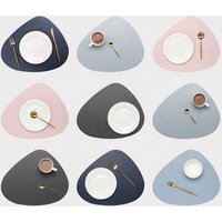 Wholesale irregular shape water proof pvc leather kitchen use dining table mat