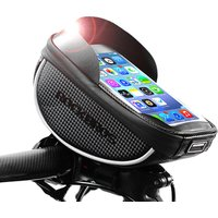 ROCKBROS MTB Road Bike Front Bag Touch Screen Bicycle Top Tube Frame Handlebar Bag 6.0 inch Cycling Pouch Cellphone Bag