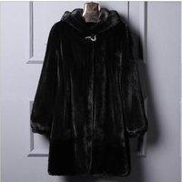 Factory Custom Wholesale Fashion Winter Warm Coat Womens Faux Fur Coat