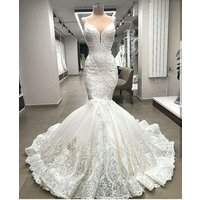 Robe de mariage 2019 haute couture fit-and-flare bridal dresses elegant bridal gown mermaid wedding dress Vestido de novia