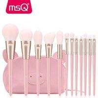 MSQ 12pcs Makeup Brush Set Powder Blusher Eyeshadow pincel kit  Synthetic Hair Makeup Brushes