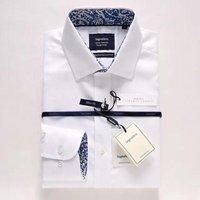 Hot Sale High Quality Custom Mens Suits Long Sleeve White Dress Shirt