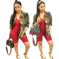 women fashion camouflage army long jacket OPL5267