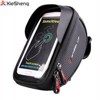Private Label Waterproof Microfiber Bicycle Phone Bag Front Cycling Tube Frame Cycling Pouch Cellphone Bike handlebar bag