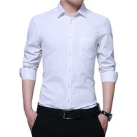 Wholesale mens dress shirt collar  for men white long sleeve
